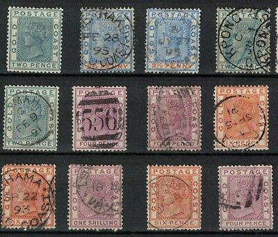Gold Coast stamp / ghana - victoria era mint and used sg13> cwn CA good lot