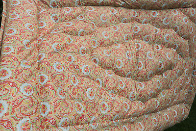 Vintage Paisley and Floral Feather Eiderdown Quilt