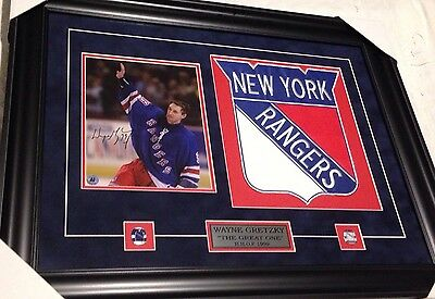Autographed Signed Auto Wayne Gretzky New York Rangers Framed Picture
