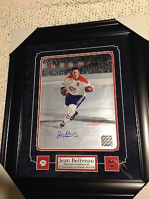 Jean Believeau Signed And Framed 11x14 Montreal Canadiens