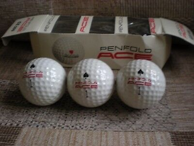 "Vintage sleeve of Penfold Ace 1.68"" new balls - spades - with free UK postage"