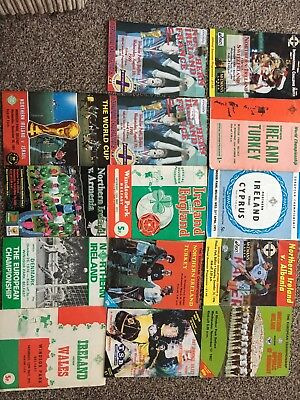 14x Northern Ireland Football Programmes from 60's/70's/80's and 90's