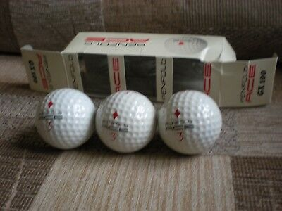"Vintage sleeve of Penfold Ace 1.68"" new balls - diamonds - with free UK postage"