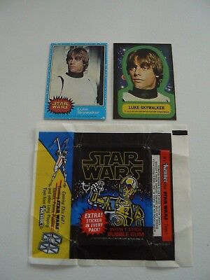 ** Star Wars 1977 Series 1 Complete Trading Cards, Stickers Sets And Wax Wrapper