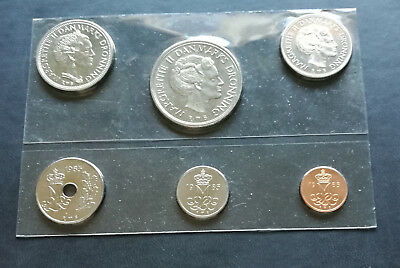 Danish coins set 1985 UNC