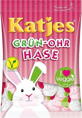 4 x 200 g KATJES Grün-Ohr-Hase / Green Ear Rabbit New and fresh from Germany