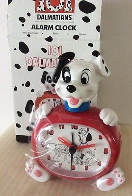 Walt Disney 101 Dalmatians Battery Operation ALARM Clock~ Kids Room NIB