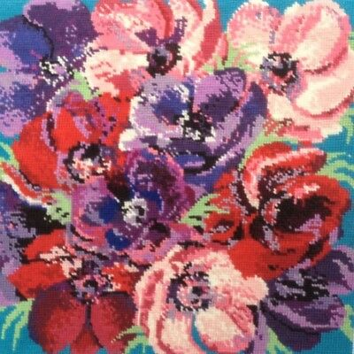 Bright  floral completed tapestry - anemones