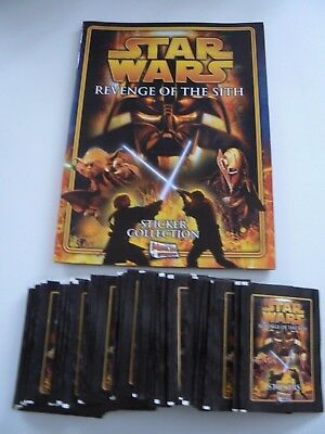 ** Star Wars Revenge Of The Sith Sticker Album & 50 Unopened Sticker Packs**