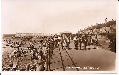 Old R/p Postcard The Promenade Hoylake (Busy Beach And Seafront)