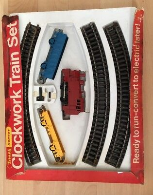 Vintage Hornby Triang Train Set Clockwork