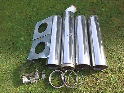 Stainless steel Aga flue pipes worth over £550 new