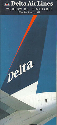 Buy 2 Get 1 Free 308DL Delta Air Lines system timetable 8//1//82