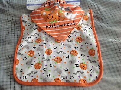 BNWT Pack Of 2 First Halloween Bibs