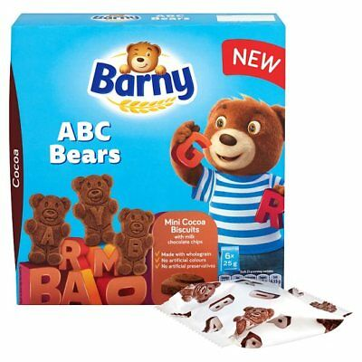Barny ABC Chocolate or Vanilla Sponge Bear Biscuits, 150g, mini biscuits