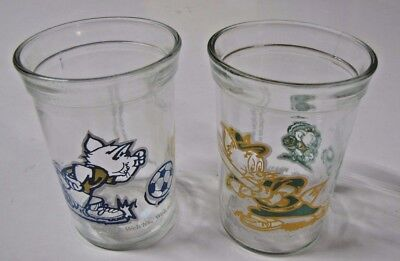 2 Vintage Welch's Tom and Jerry Jelly Glass Jars  Soccer Baseball 1991