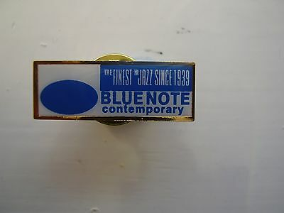 Blue Note enamel promo pin badge (Blue Note Contemporary Jazz Record Label) NEW