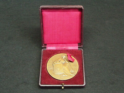 Bronze French Art Medal By E.bussiere International Exhibition Of Nancy 1909
