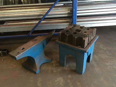 Large Blacksmiths Anvil Including Swage And Stand