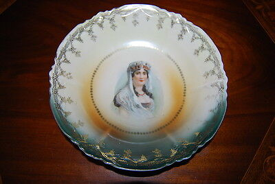 Magnificent Old Vienna Style Napoleon's Josephine Large Victorian Plate Bowl