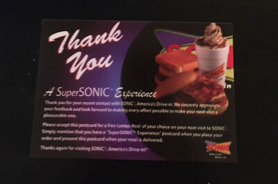Sonic 25Combo Meal Cards...no Expiration!