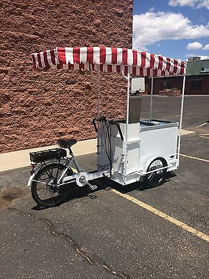 Year End Sale, $500 Off. Cold Drinks/Beer/Ice Cream E- Bike Cart (New)