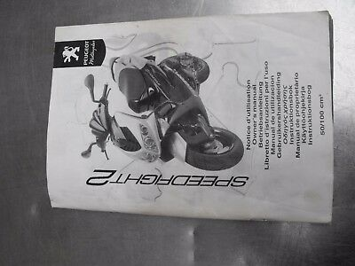 Peugeot Speedfight2 Owners Manual