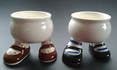 Carlton Ware Pottery - 2 Walking Ware Egg Cups - Backstamps date from 1969 -1989
