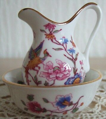 Collectable 'hammersley' Fine Bone China Miniature Jug And Wash Bowl