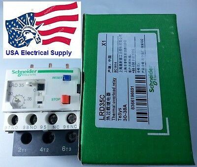 New Schneider Thermal Overload Relay LRD35 30-38Amp.
