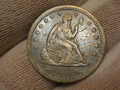 1855 Seated Liberty Quarter With Arrows