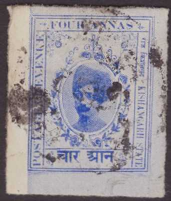 India Feud Kishangarh 1913-16 SG67 4a Bright Blue FU CV£8