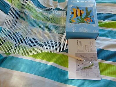 Hobbycraft fish Latch Hook Rug Kit 30 x 30 cm , in box, new, with latch tool