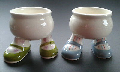 Carlton Ware Lustre Pottery - 2 Walking Ware Egg Cups - Backstamp date 1974-1987