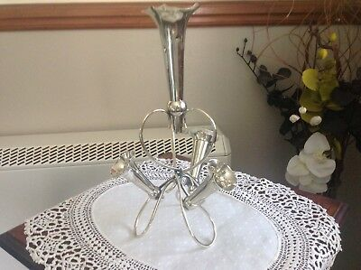 Epergne A1 Silver Plate Four Trumpet Date Around 1900