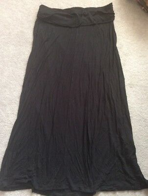 NEXT Maternity Size 14 Black Long Maxi Skirt Great For Work Or Smart