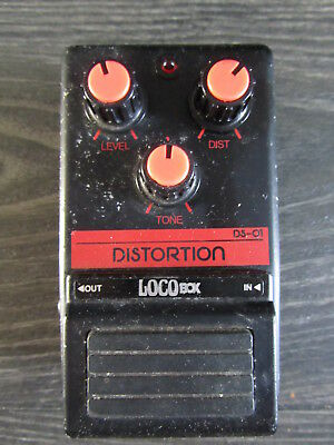 Loco Box analogue Distortion guitar effect pedal, vintage made in Japan