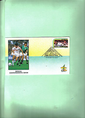 1986 world cup first day cover featuring england v russia