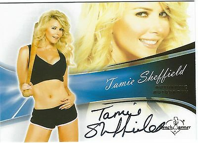 Bench Warmers Tamie Sheffield Authentic Autograph Card 2013 Good Condition