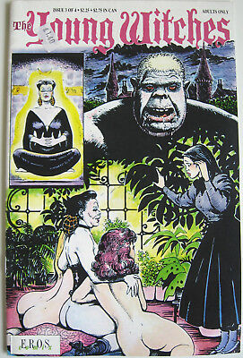 The YOUNG WITCHES Comic Issue 3 of 4 (1991) EROS Comix