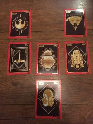 Lot Of Topps Journey To Star Wars The Last Jedi Gold Trading Cards