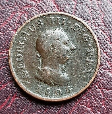 (J57) Uk British 1806 George Iii One Farthing Coin