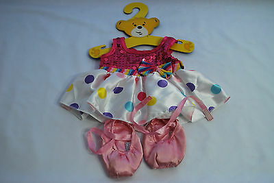 Build A Bear Polka Dot Dress and Ballet Shoes