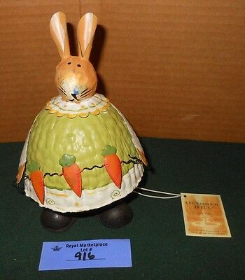 OCTOBER HILL Collection Bobble BUNNY RABBIT Figurine