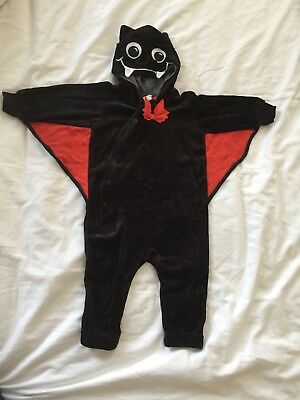 Baby Kids H&M Halloween Costume Bat Outfit All In One Babygrow 6-9