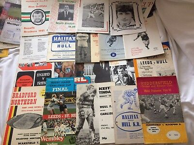 Interesting Rugby League Programme And Brochure Collection 1950's On