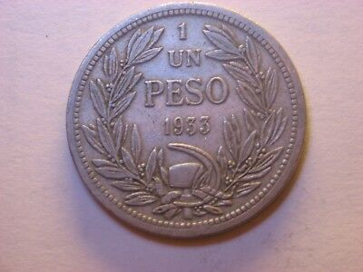 Chile  One Peso 1933
