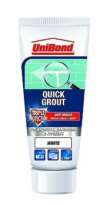 Unibond Quick Grout Kitchen Shower Bathroom & Kitchen Tripple Protect - White