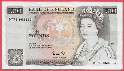 Bank Of England £10 Note, Gill, Dt78 969363