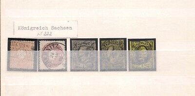 Briefmarken Sachsen gest lot